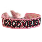 Good vibes only armbandje wine red