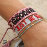 Good vibes only bracelet vin rouge_