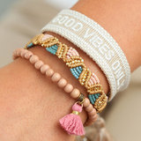 Good vibes only bracelet sand_