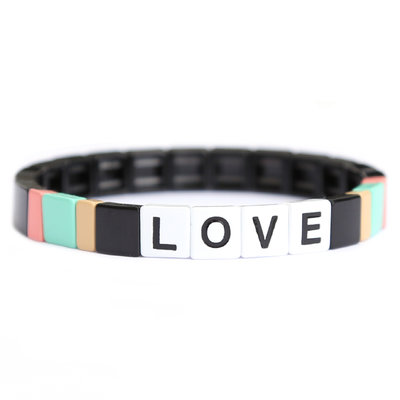 LOVE stone bracelet