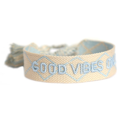 Good vibes only bracelet creme