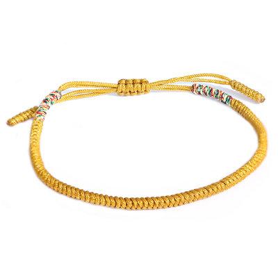 Bracelet bouddhiste jaune