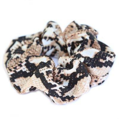 Chouchou python satiné