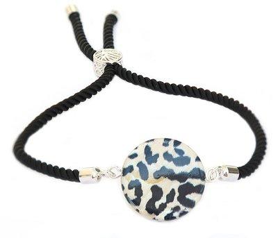 Bracelet léopard rond