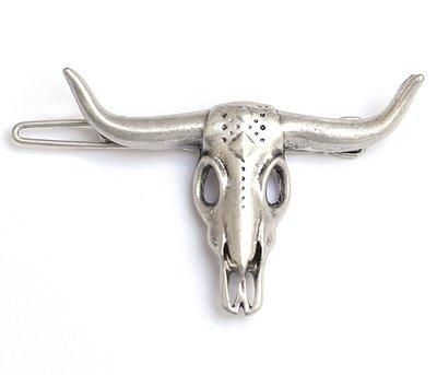 Pince à cheveux Buffalo - argent