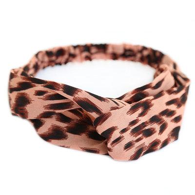Bandeau léopard rose