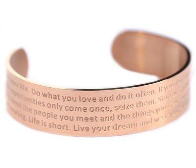 Bracelet de motivation rosé