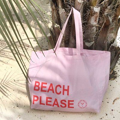 Sac de plage en toile Beach Please