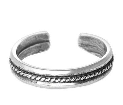 Midi bague Chain (argent sterling)
