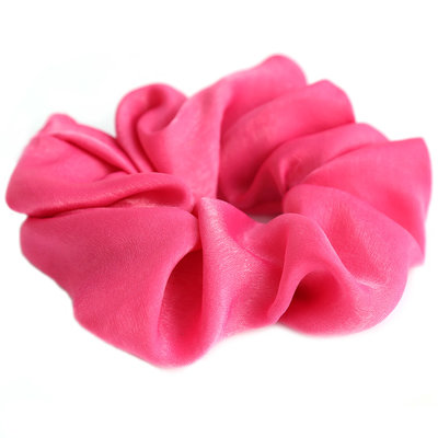 Chouchou en soie pink