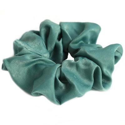 Chouchou en soie vert