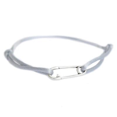 Safety pin bracelet argent