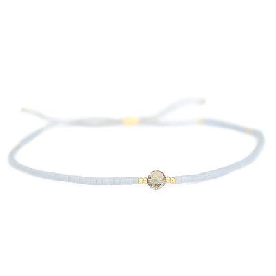 Miyuki bracelet gris
