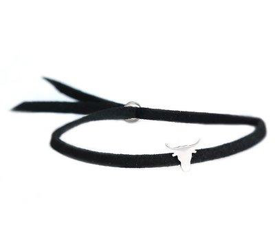 Bracelet Buffalo argent noir
