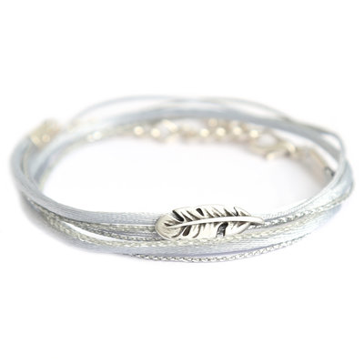 Feather wrap silver