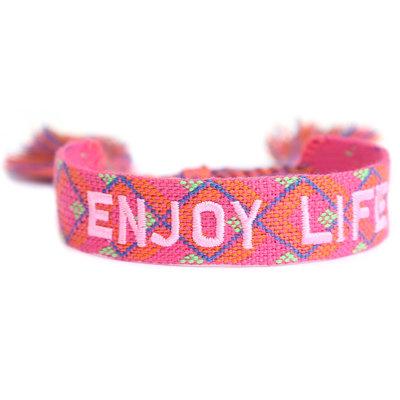 Bracelet tissé Enjoy life