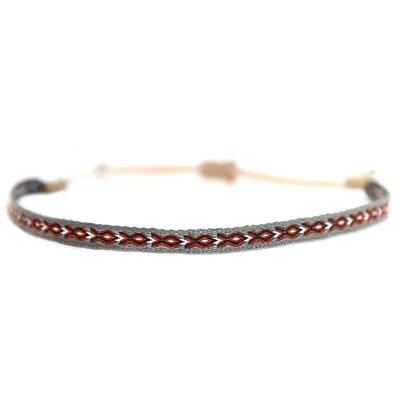 Bracelet Aztec gris