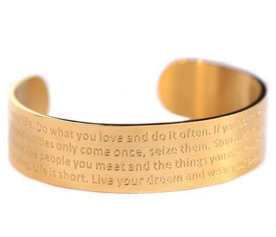 Bracelet de motivation or