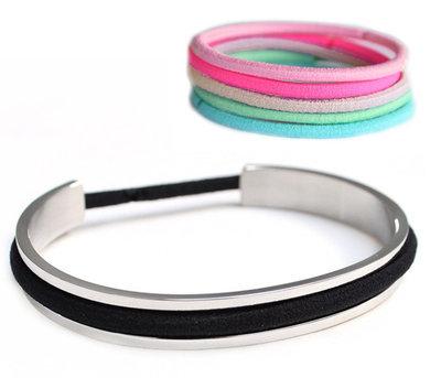 Bracelet élastique pour cheveux - argent