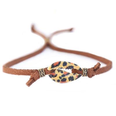 Bracelet coquillage léopard marron