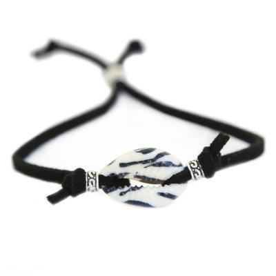 Bracelet coquillage zèbre noir