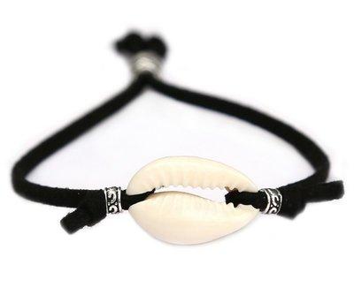 Bracelet coquillage plage noir