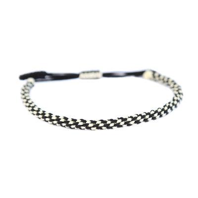 Bracelet bouddhiste noir et blanc