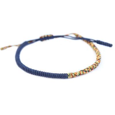 Bracelet bouddhiste bleu multi