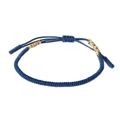 Bracelet bouddhiste bleu