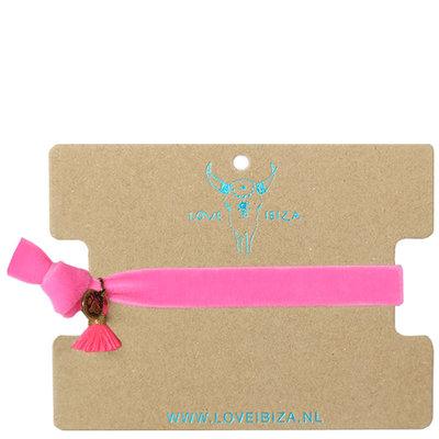 Bracelet en velours - pink