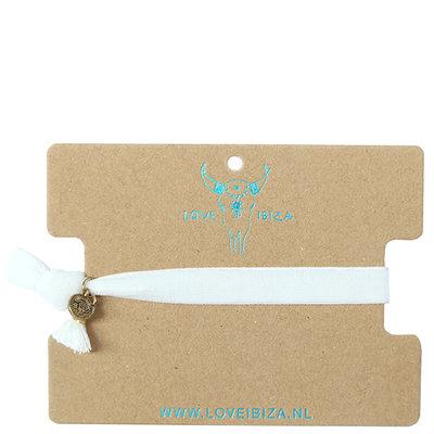 Bracelet en velours - blanc