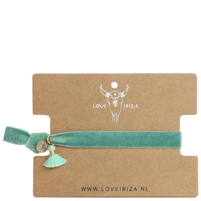 Bracelet en velours - Vert