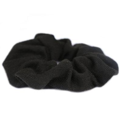 Scrunchie knitted black