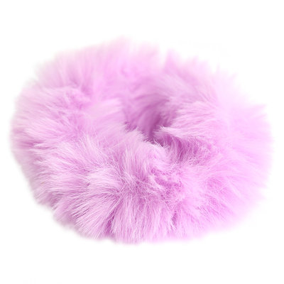 Chouchou faux fur lila