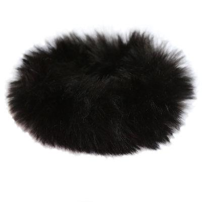 Chouchou faux fur noir