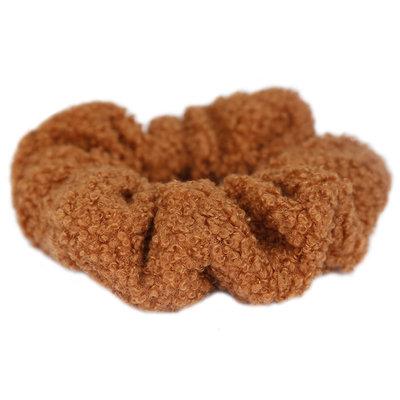 Scrunchie teddy brown