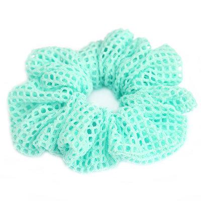 Chouchou mesh turquoise