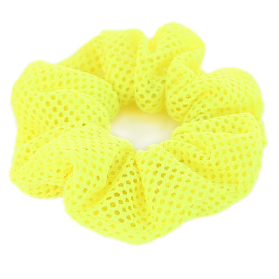 Chouchou mesh neon yellow