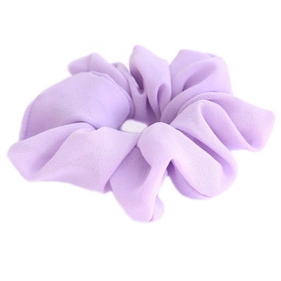 Chouchou mousseline lilas