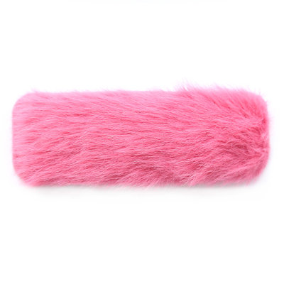 Barrette à cheveux fluffy pink