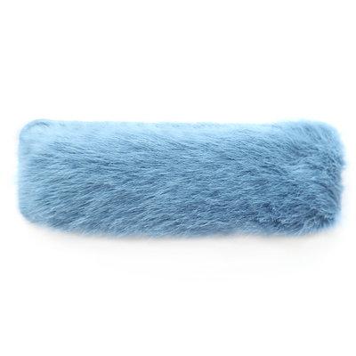 Barrette à cheveux fluffy bleu