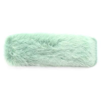Barrette à cheveux fluffy menthe