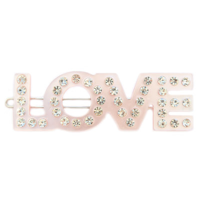 Barrette à cheveux Love Rose strass