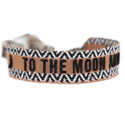 Bracelet tissé To the moon and back