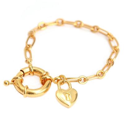 Bracelet love lock gold