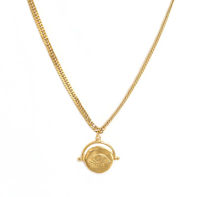 Collier eye on you gold