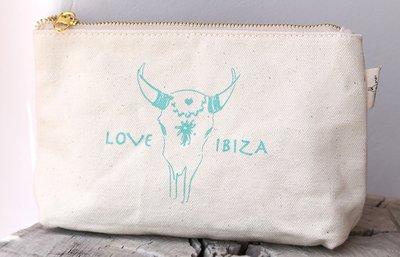 Trousse de maquillage Love Ibiza Turquoise
