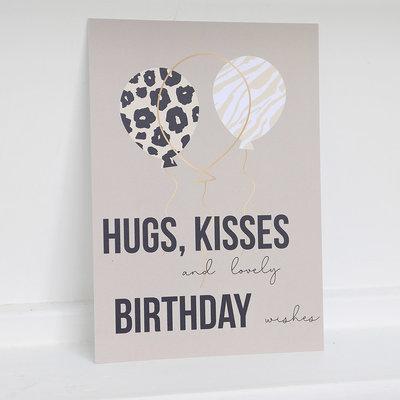 Card - Birthday hugs and kisses