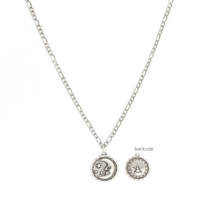 Ketting sun and moon argent