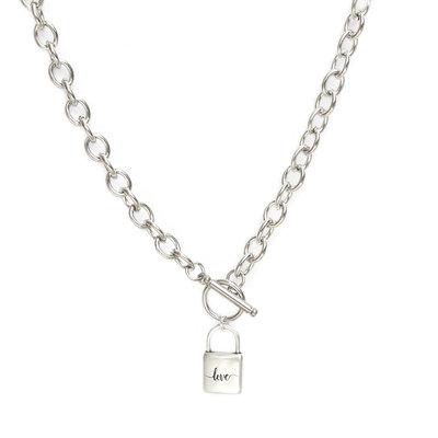 Collier chain lock silver